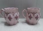Cups, mugs - Czech pink porcelain