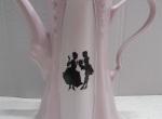 Coffe / tea pot - Czech pink porcelain