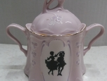 Sugar container - Czech pink porcelan